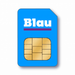 Blau SIM Karte Favicon